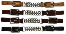 Load image into Gallery viewer, Leather end curb with double chain - Made in USA - KP Pet Supply