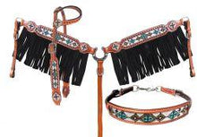 Load image into Gallery viewer, Showman ® 4 Piece beaded navajo cross headstall and breast collar set - KP Pet Supply