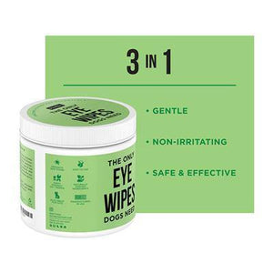Dog Eye Wipes, 100 count Jar- Made in the USA