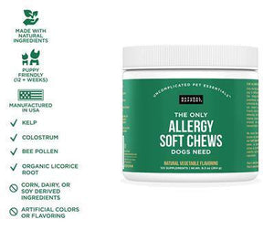 Allergy Soft Chews, 120 count Jar - Made in the USA
