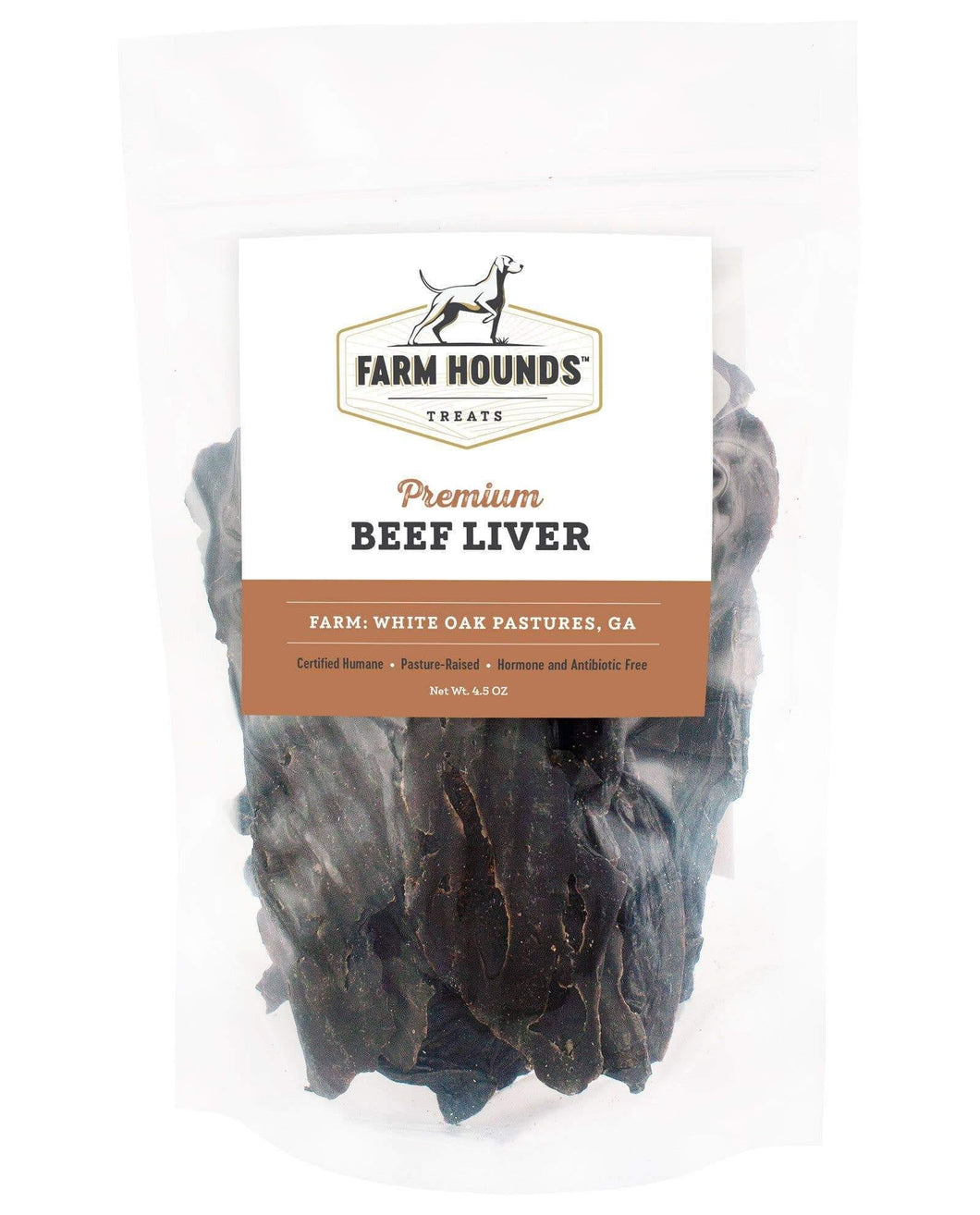Farm Hounds Premium Beef Liver Dog Treats, 4.5 oz Bag - KP Pet Supply