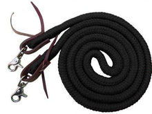 Load image into Gallery viewer, 8ft Braided Soft Cotton Barrel Reins - KP Pet Supply