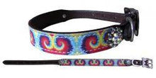 Load image into Gallery viewer, Showman Couture ™ Genuine leather dog collar with tie dye print. - KP Pet Supply
