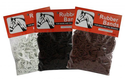 Horse Braiding Rubber bands package of 500