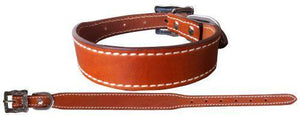 Genuine medium oil leather dog collar