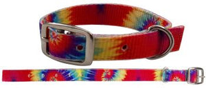 Tye Dye print nylon dog collar.