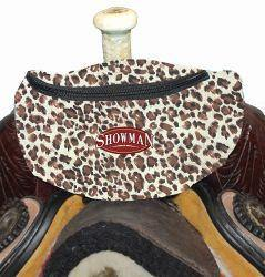 Leopard Print Insulated Nylon Saddle Pouch - KP Pet Supply