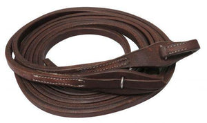 "8ft X 5/8"" Oiled harness leather split reins with quick change bit loops. - KP Pet Supply"