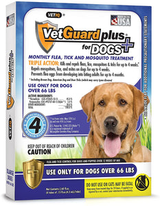 VetGuard Plus for Dogs Flea and Tick Treatment for X-Large, Dogs over 66 lbs