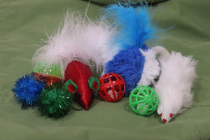 Cat Toy Assorted Variety 8 Pack