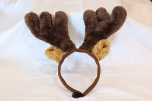 KP Pet Supply Adjustable Pet Antler Hat Holiday Costume Headband for Medium-Large Dogs