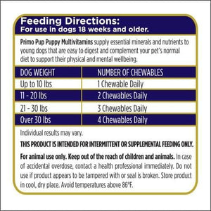 kp-pet-supply Primo Pup Puppy Multivitamins Primo Pup Dog