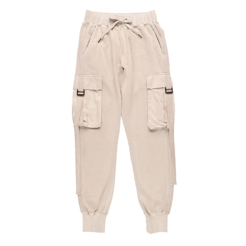 BIG POCKET SWEATPANTS BEIGE