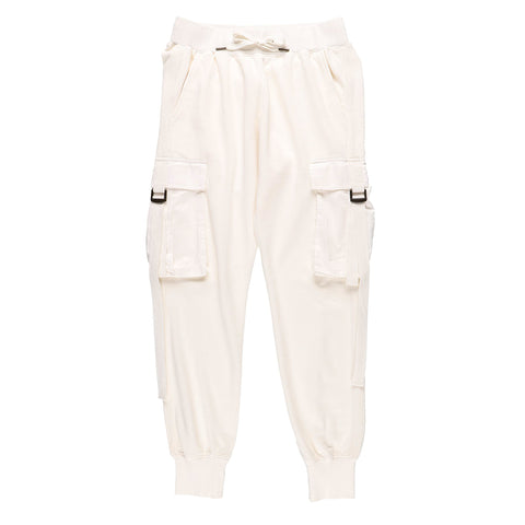BIG POCKET SWEATPANTS WHITE
