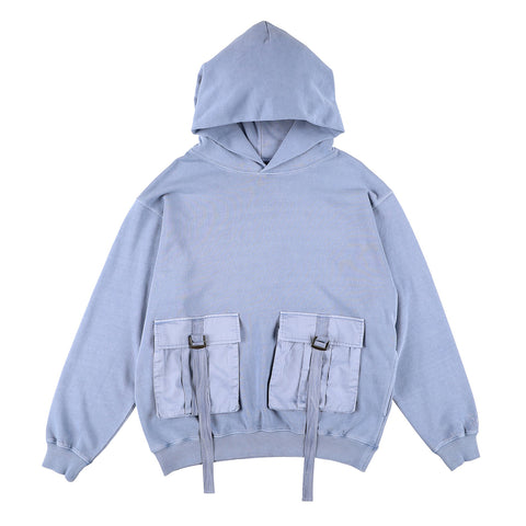 BIG POCKET HOODIE BLUE