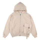 BIG POCKET ZIP-UP HOODIE