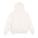 BIG POCKET ZIP-UP HOODIE WHITE