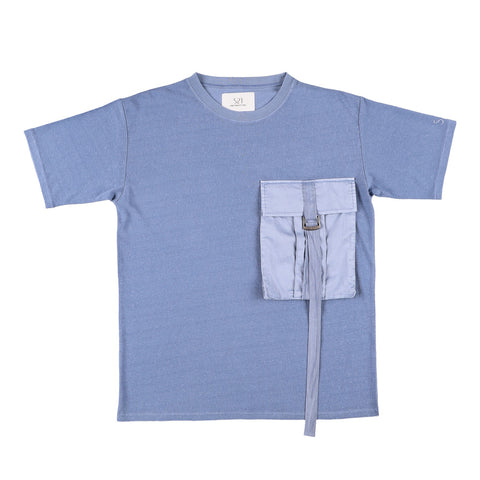 BIG POCKET T-SHIRT BLUE