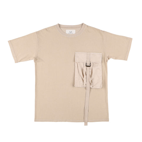 BIG POCKET T-SHIRT BEIGE