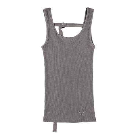 BACK STRING TANKTOP GRAY