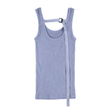 BACK STRING TANKTOP BLUE