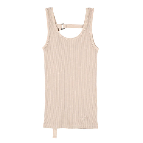 BACK STRING TANKTOP BEIGE
