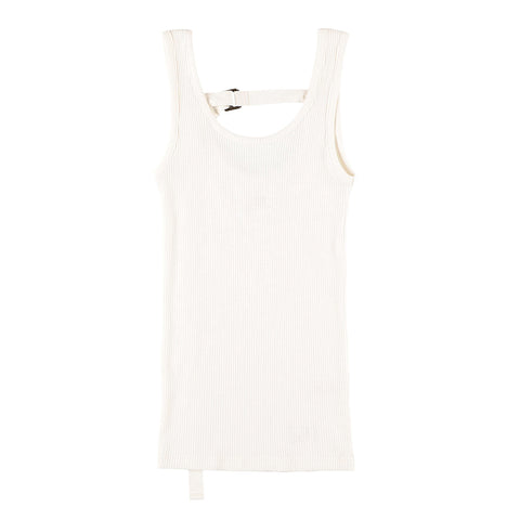 BACK STRING TANKTOP WHITE