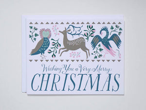 Banquet Workshop - Wishing You A Very Merry Christmas - Folk Note Card