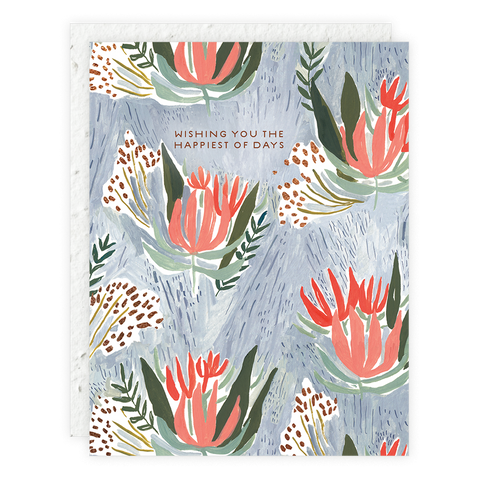 Spiky Flowers Seedling Card