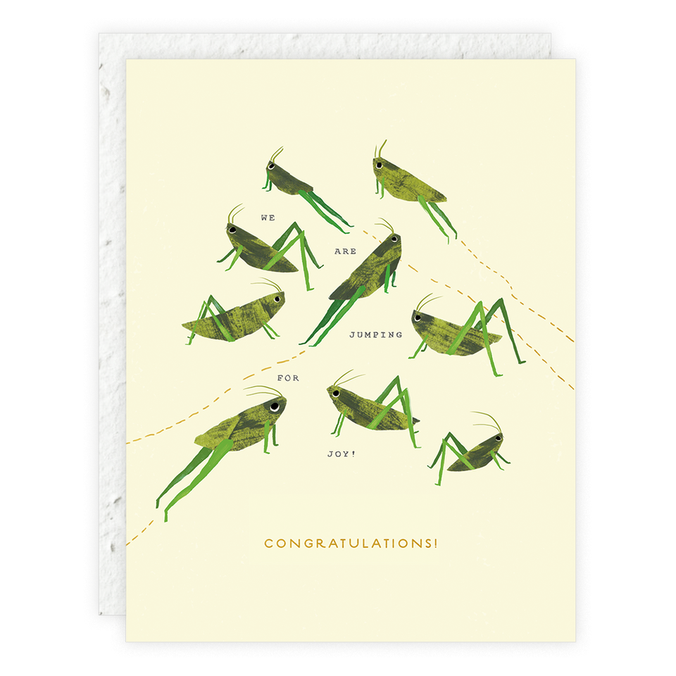 Seedlings - Grasshoppers Card