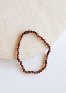 Adult: Raw Cognac Amber Necklace