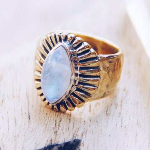 Free Spirit Moonstone Ring
