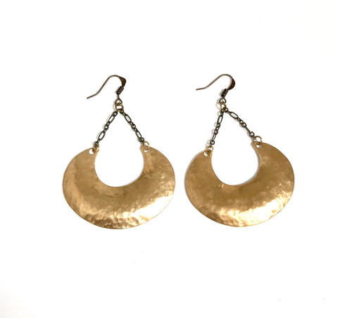 Lucy crescent earrings