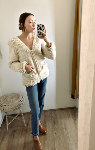 Zip Fringe Ecuador Sweater