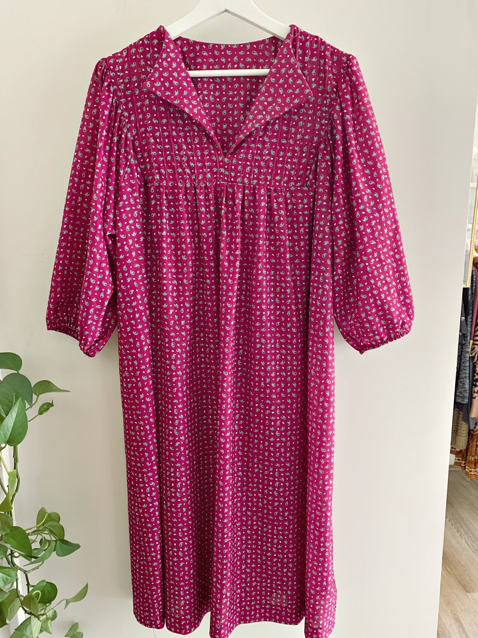 Deep Pink Mumu Dress