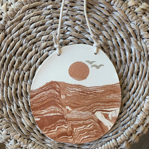Red Sands White Sky Wall Hanging