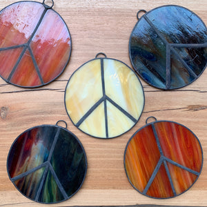 Stain Glass Peace Sign