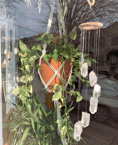 Quartz points wind chime