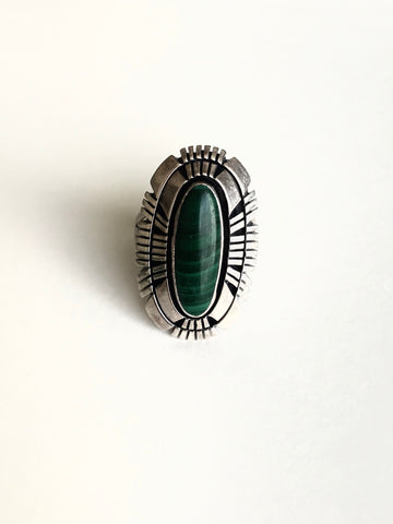 Large Malachite Ring
