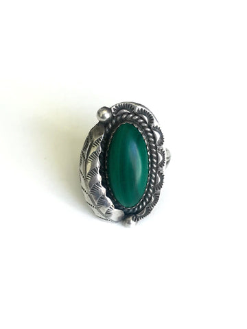 Malachite Feather Ring