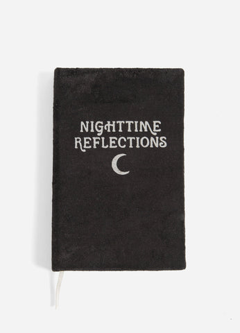 Nighttime Reflections Black - Velvet Mindfulness Journal