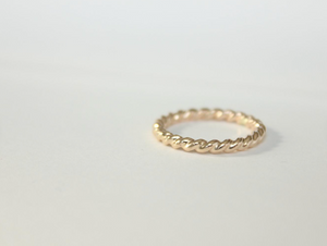 Super Thick Twisted 14k Rose Gold Filled Ring