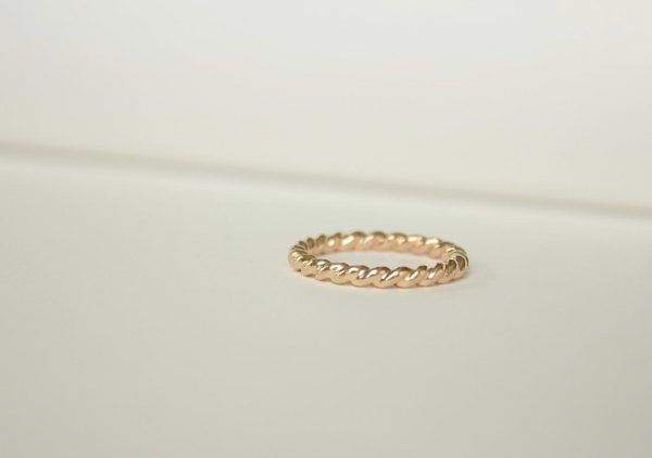 Super Thick Twisted 14k Yellow Gold Filled Ring