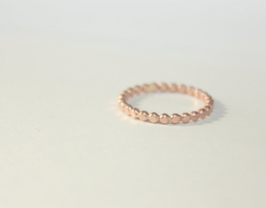 Dotted Band Ring 14k Yellow Gold Filled