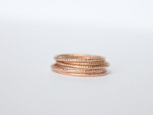 Faceted 14k Rose Gold Filled Ring