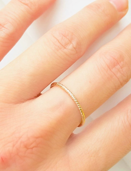 Faceted 14k Yellow Gold Filled Ring