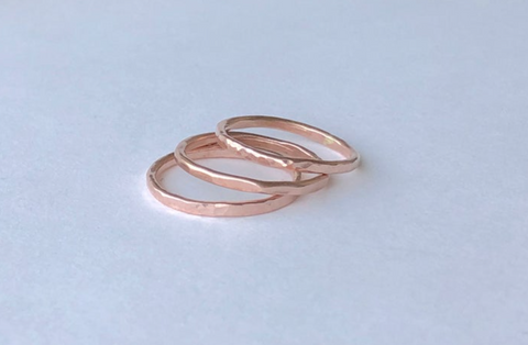 Thin Stacker Ring 14k Rose Gold Filled