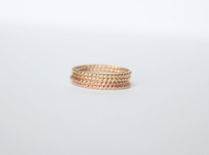 Thin Twisted 14k Yellow Gold Filled Ring