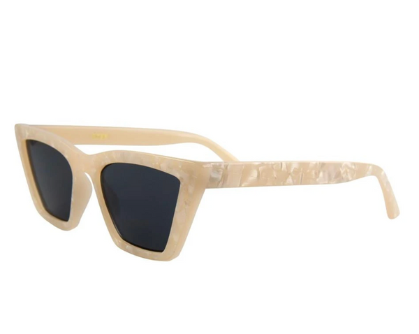 Rosey Sunglasses-Cream Smoke