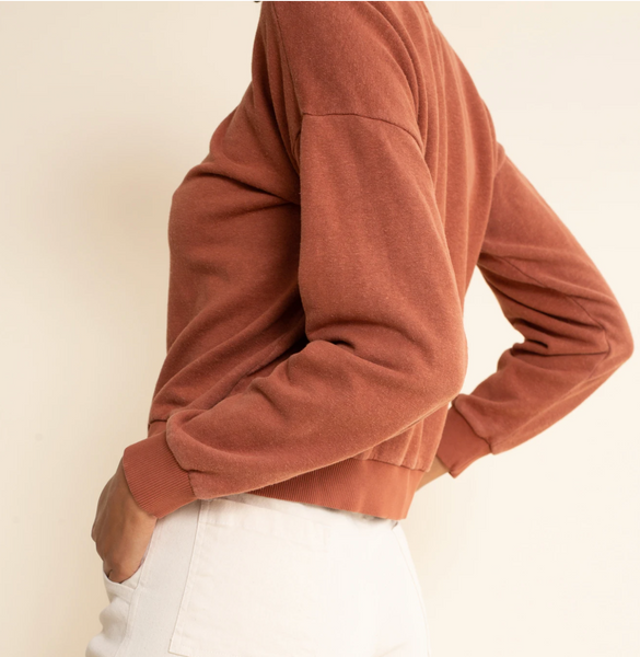 Yakama Cropped Sweatshirt Terracotta